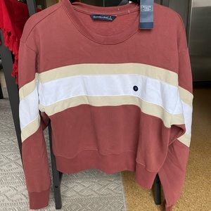 Abercrombie & Fitch Colorblock Pullover Sweatshirt
